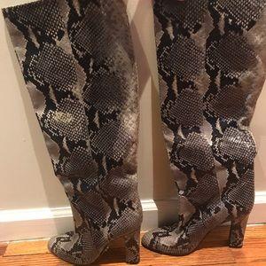 Diane Von Furstenberg Shoes - Dvf python boots